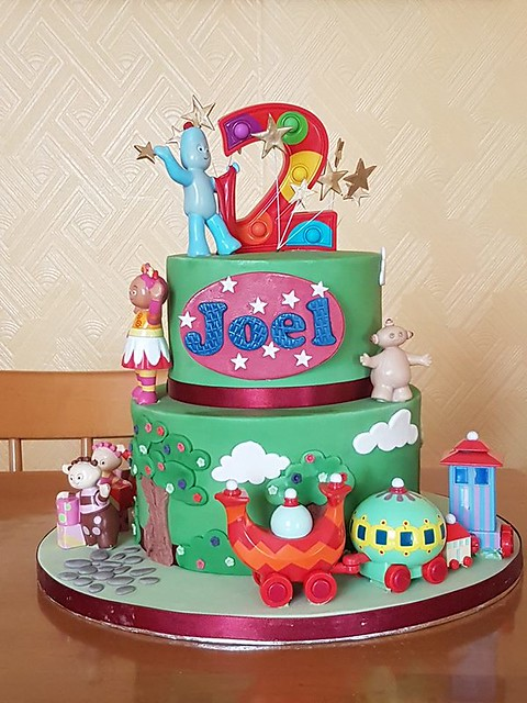 Iggle Piggle 2 Tier Themed Birthday Cake by Alooya Cakes and Pastries