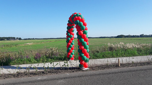 Ballonboog 6m Opening Fietspad Gemeentegrens tussen Beilen en Dwingeloo