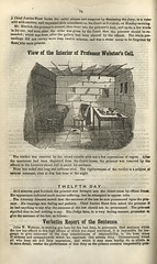 View of the interior of professor Webster's cell