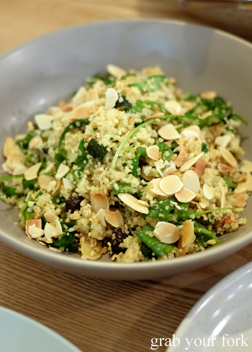 Cous cous salad at Fich seafood restaurant in Petersham Sydney