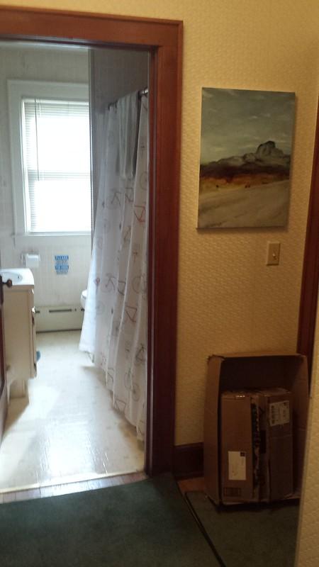 Bathroom, viewed from hallway
