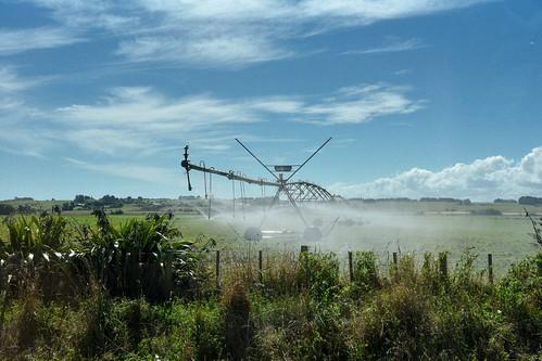 幾年前來紐西蘭南島時看到的大型噴水機,北島反而不常見。