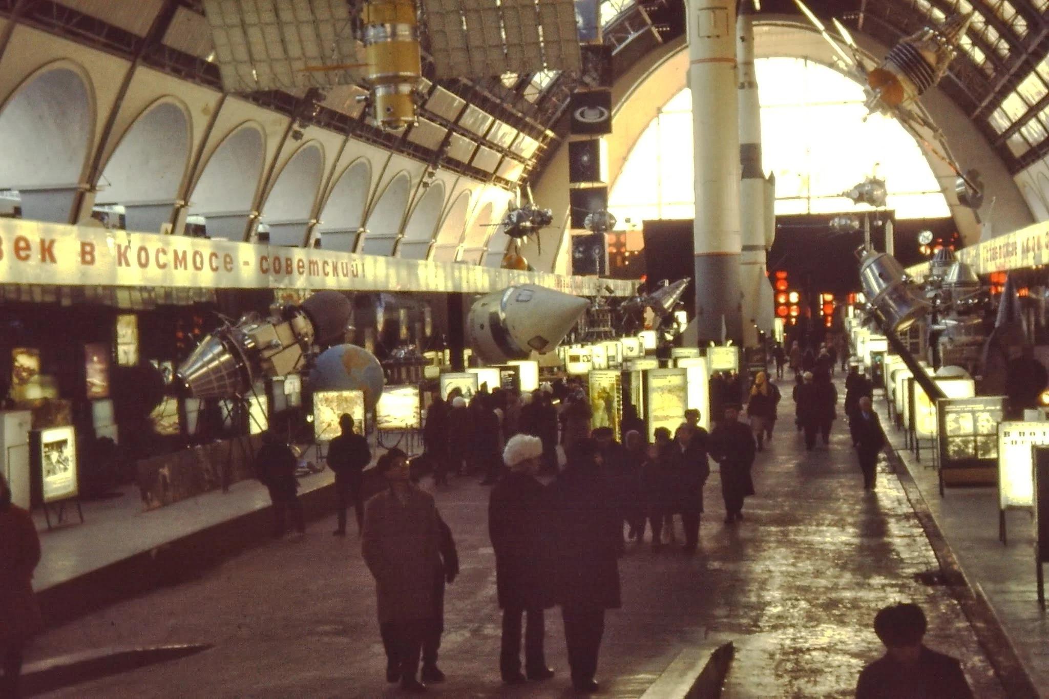 Все советские ракеты и космические корабли представлены на выставке