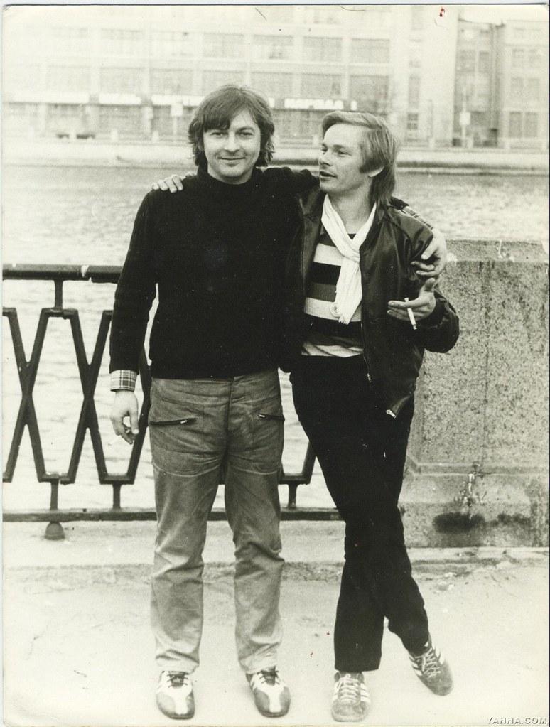 Майк и Сергей Рыженко в Ленинграде на Петроградской стороне. 1985
