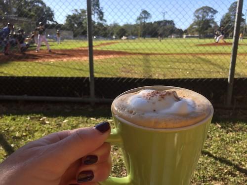 #Coffee at Baseball