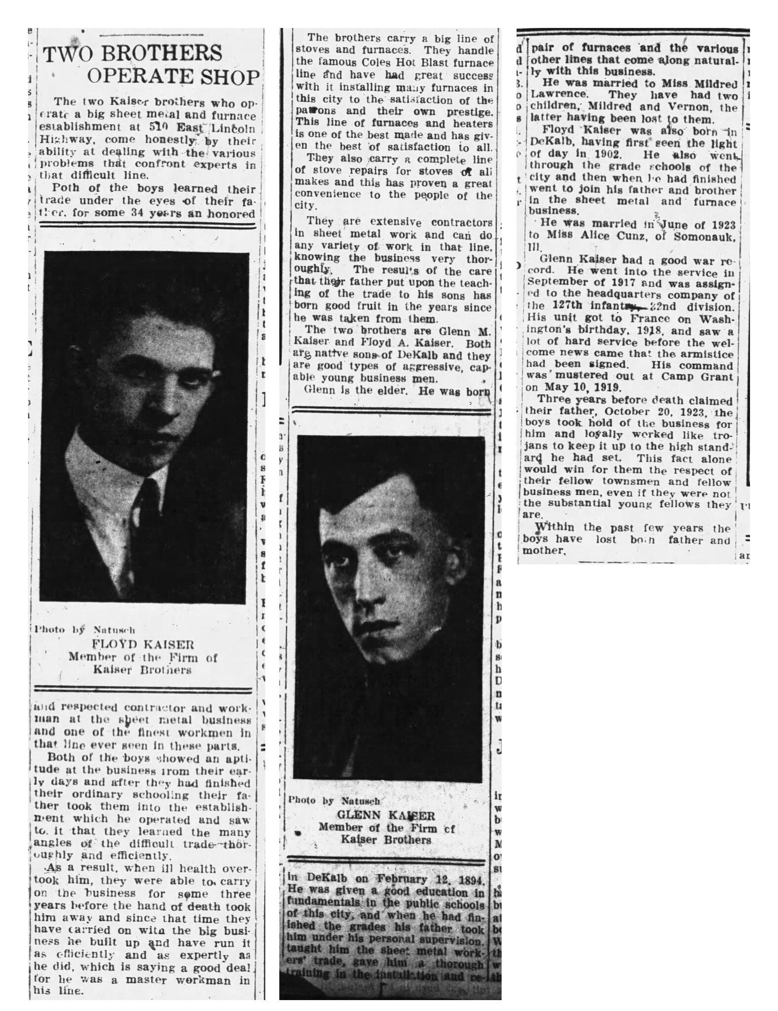 KaiserBros_1924_article