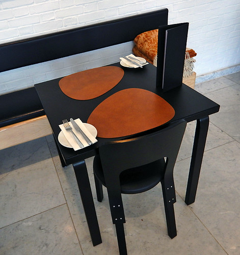 Danish design furniture in the Art Museum Cafe in Aalborg, Denmark