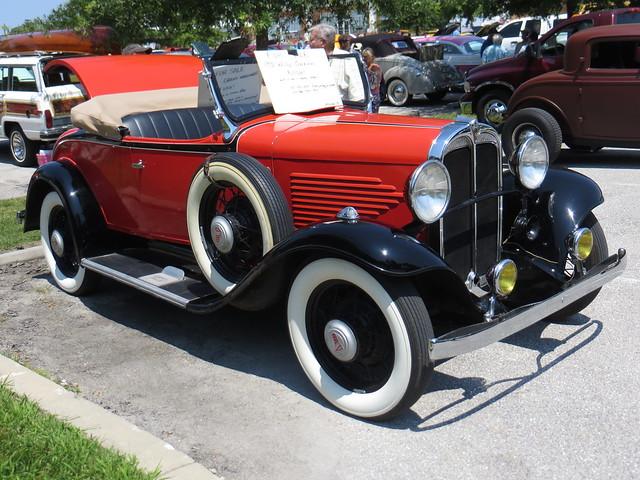 Orange Antique Car