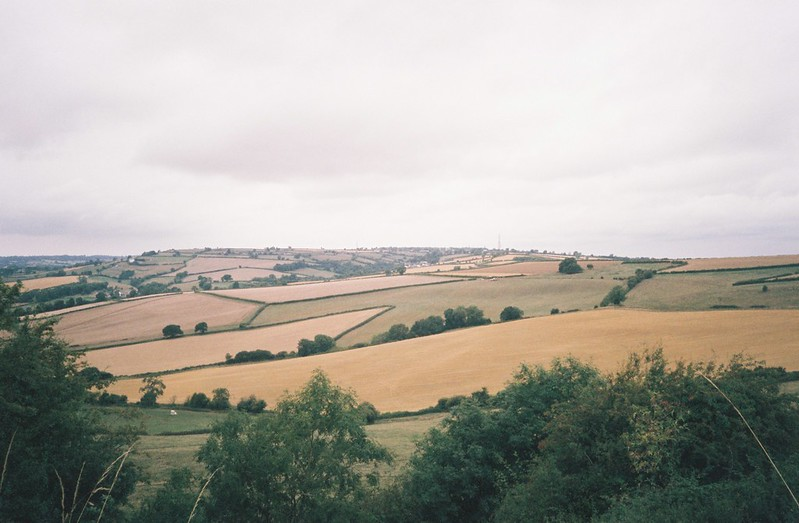 Looking west from Maes Knoll