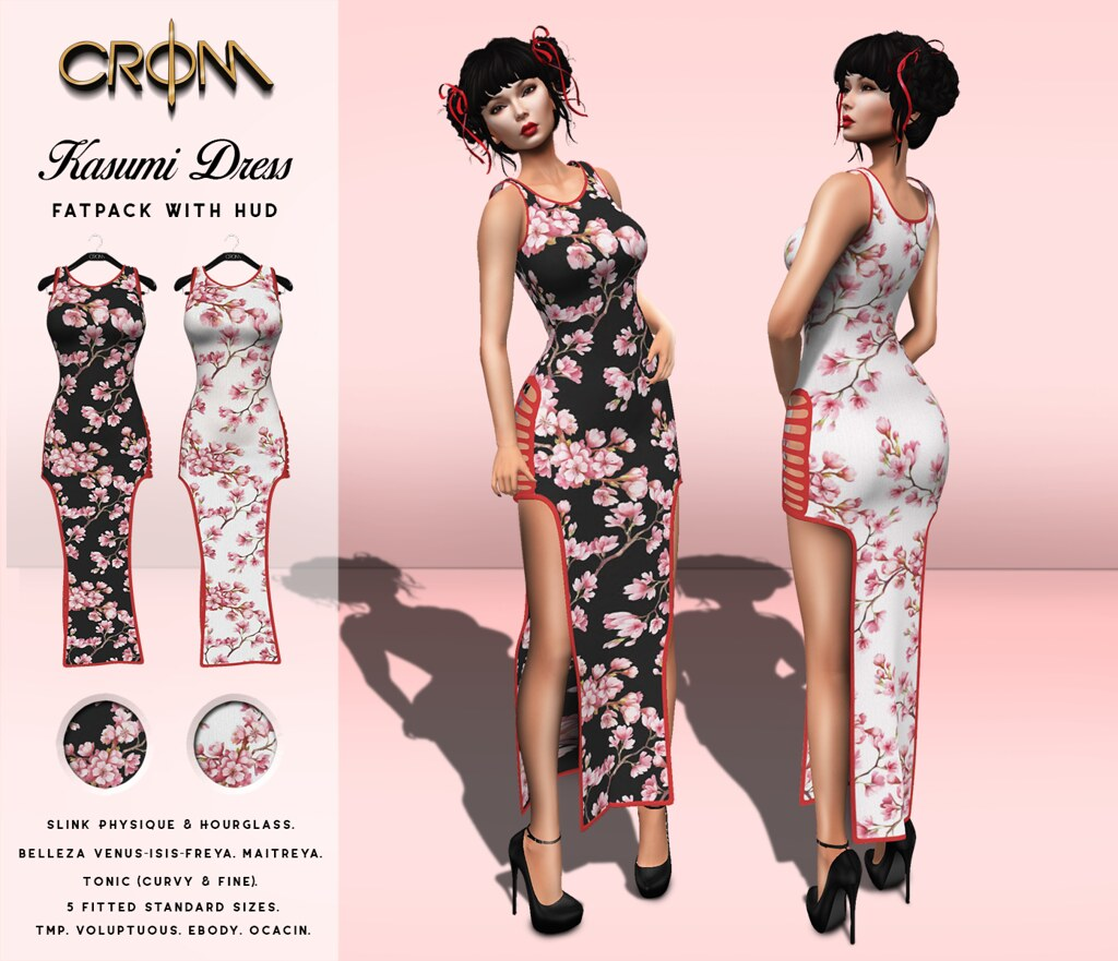 -CroM-  10 L Kasumi Dresses – Cart SALE