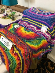 Colorful afghans at the Monterey County fair