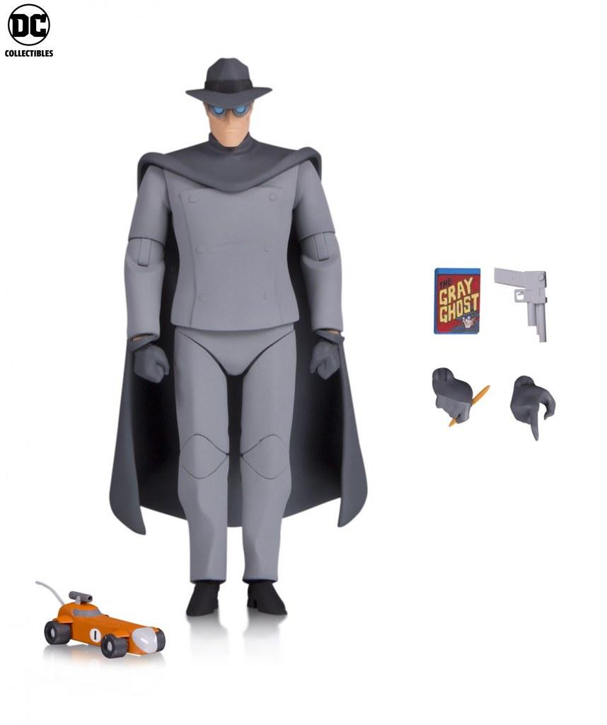 蝙蝠俠的偶像英雄!! DC Collectibles《蝙蝠俠:動畫系列》灰色幽靈 Batman: The Animated Series Gray Ghost 6吋可動人偶作品