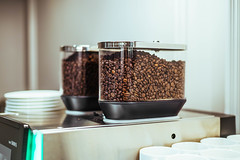 Coffee Beans In Machine