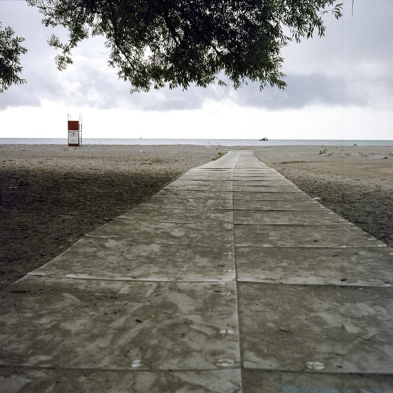 Empty Woodbine Beach