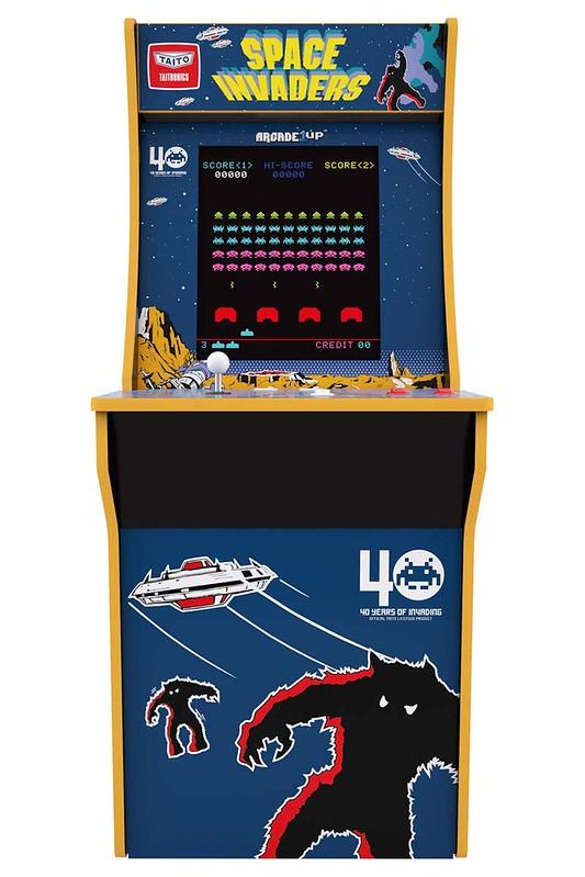《小精靈》《大蜜蜂》《太空侵略者》經典大型機台再現!Tastemakers「Arcade 1Up」3/4比例街機框體