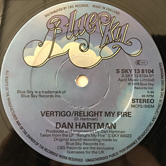DAN HARTMAN:RELIGHT MY FIRE(LABEL SIDE-B)