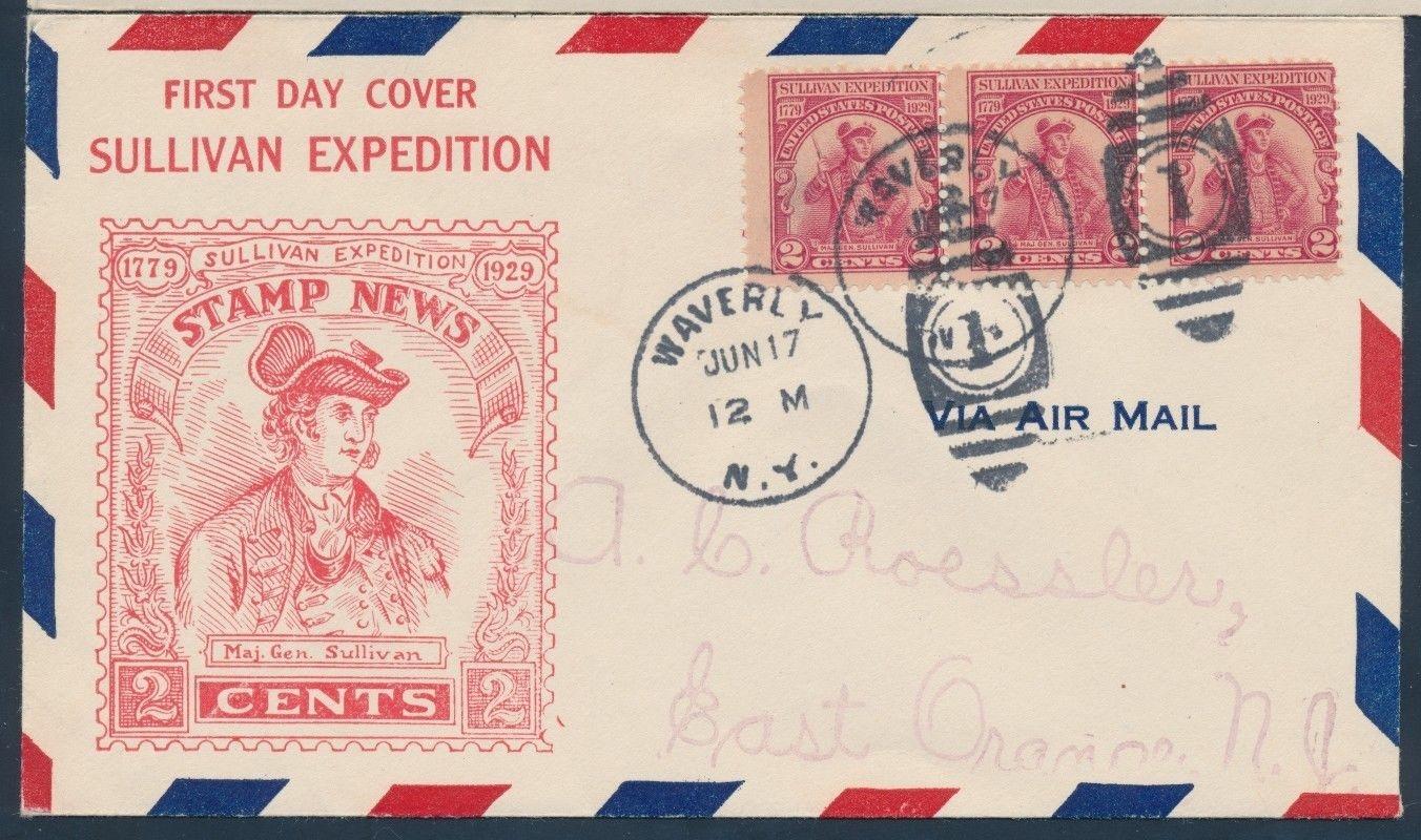 United States - Scott #657 (1929) first day cover, Waverly postmark, Roessler cachet