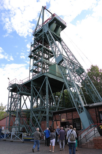 Besucherbergwerk, Förderturm