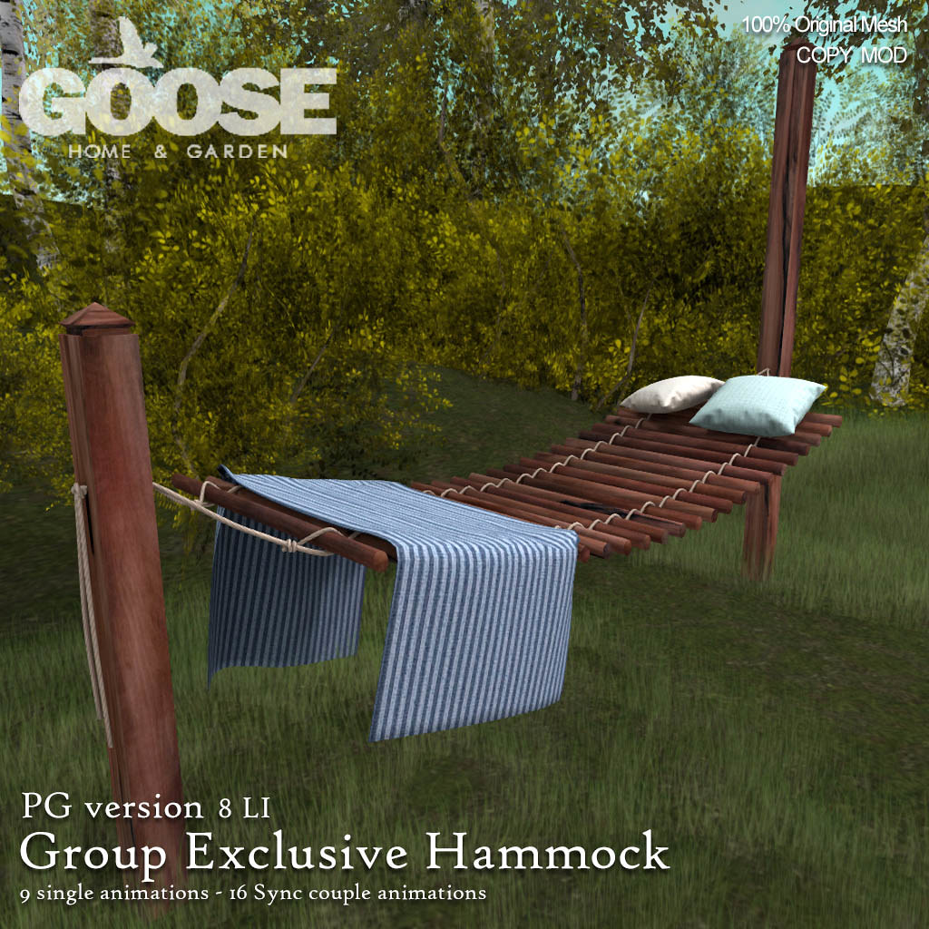 GOOSE - Exclusive group hammock - TeleportHub.com Live!
