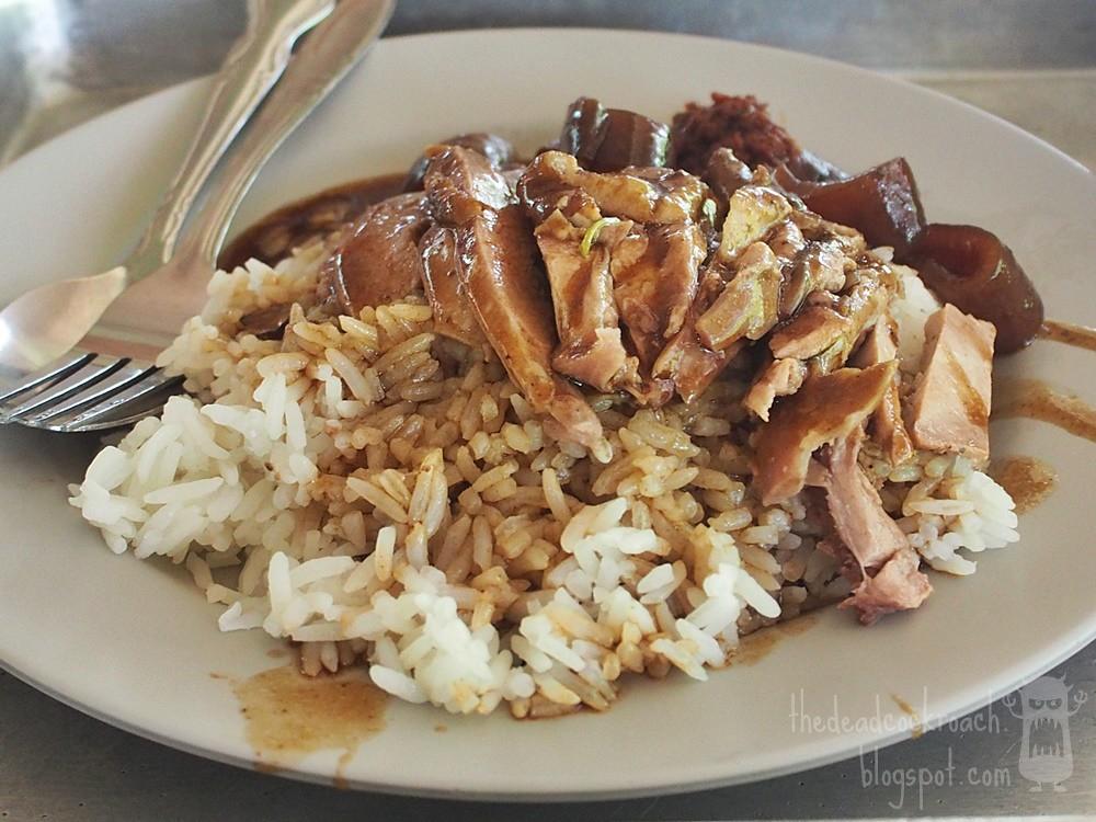 braised duck, cai ji boneless braised duck rice, old school braised duck, seah im food centre, singapore, 財記起骨鴨飯粥