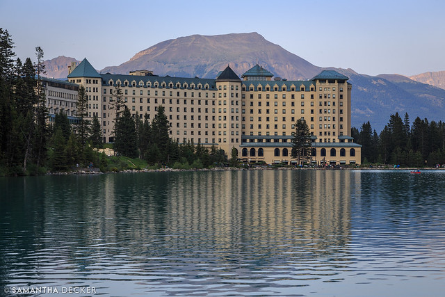 Looking Back at the Fairmont Chateau Lake Louise
