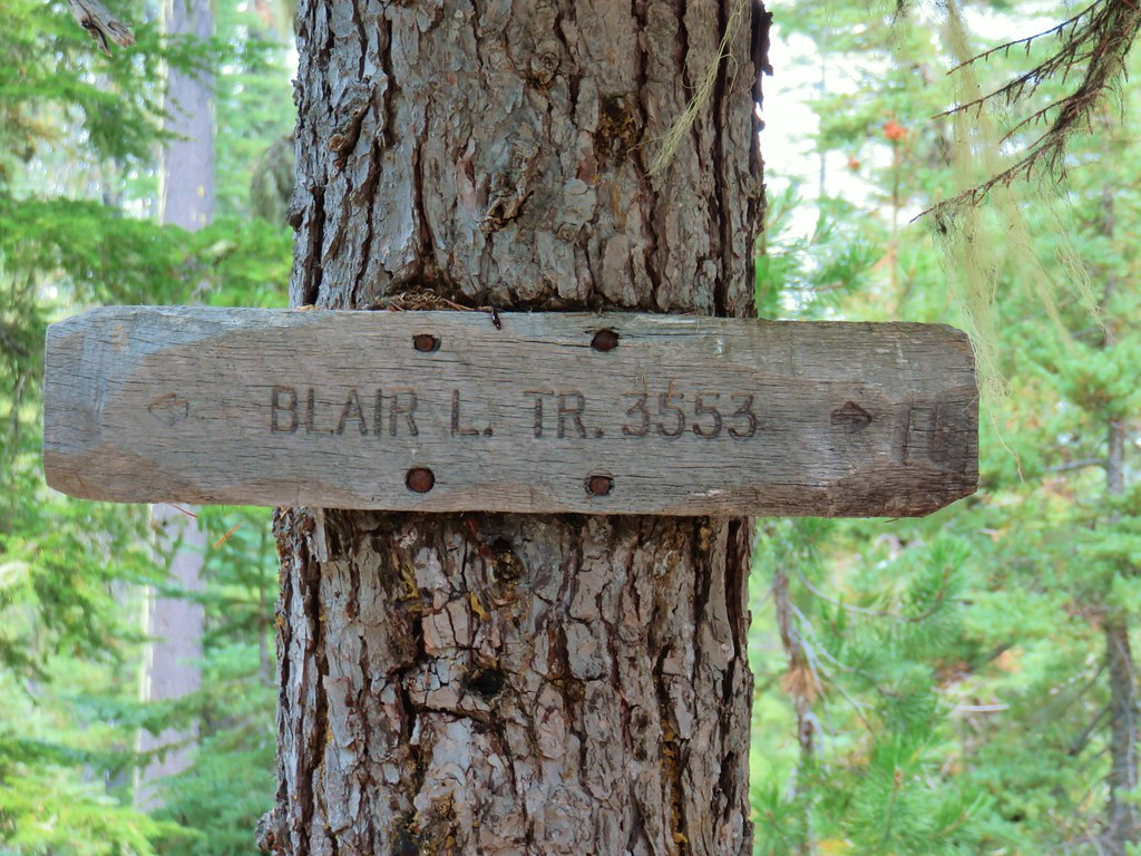 Blair Lake Trail sign