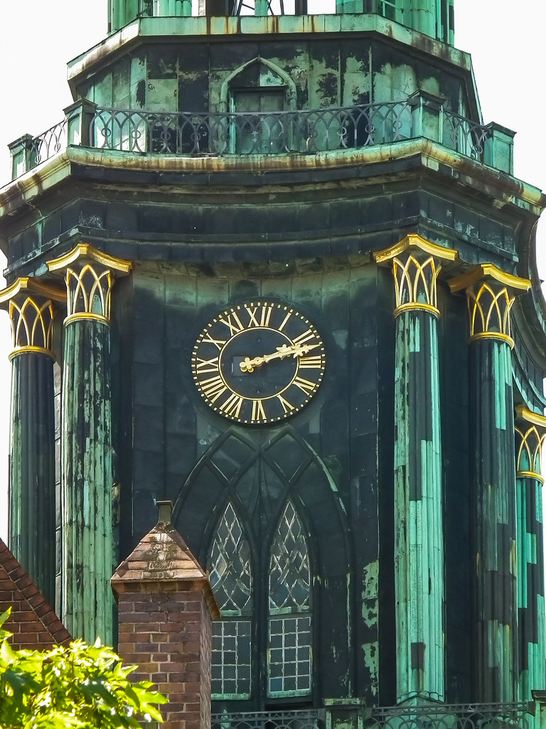 Gilded clock tower