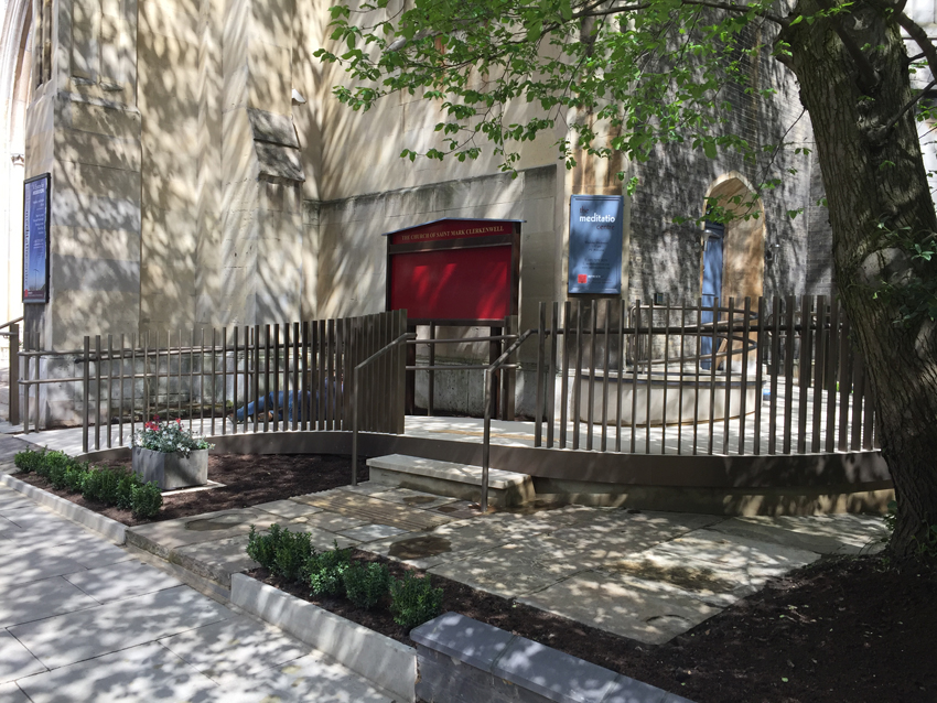 St Mark's church, Clerkenwell- Access Ramp & Steps from South West