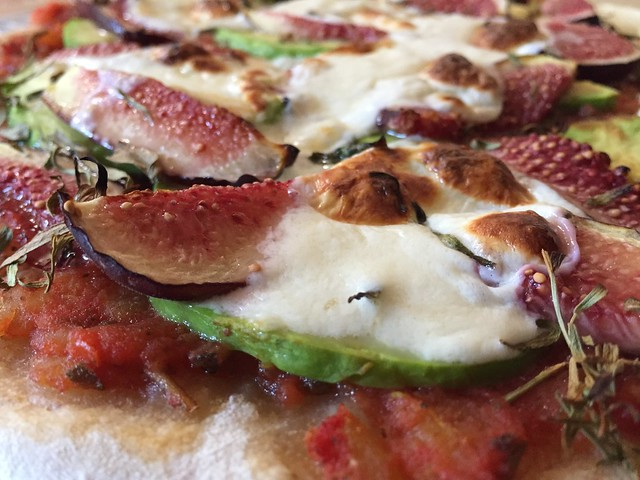 Fig/Avocado/Tarragon Pizza