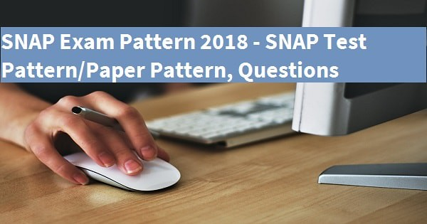 SNAP Exam Pattern