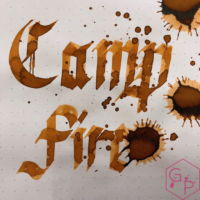 Robert Oster Campfire Ink Review for Phidon Pens 10th Anniversary 15