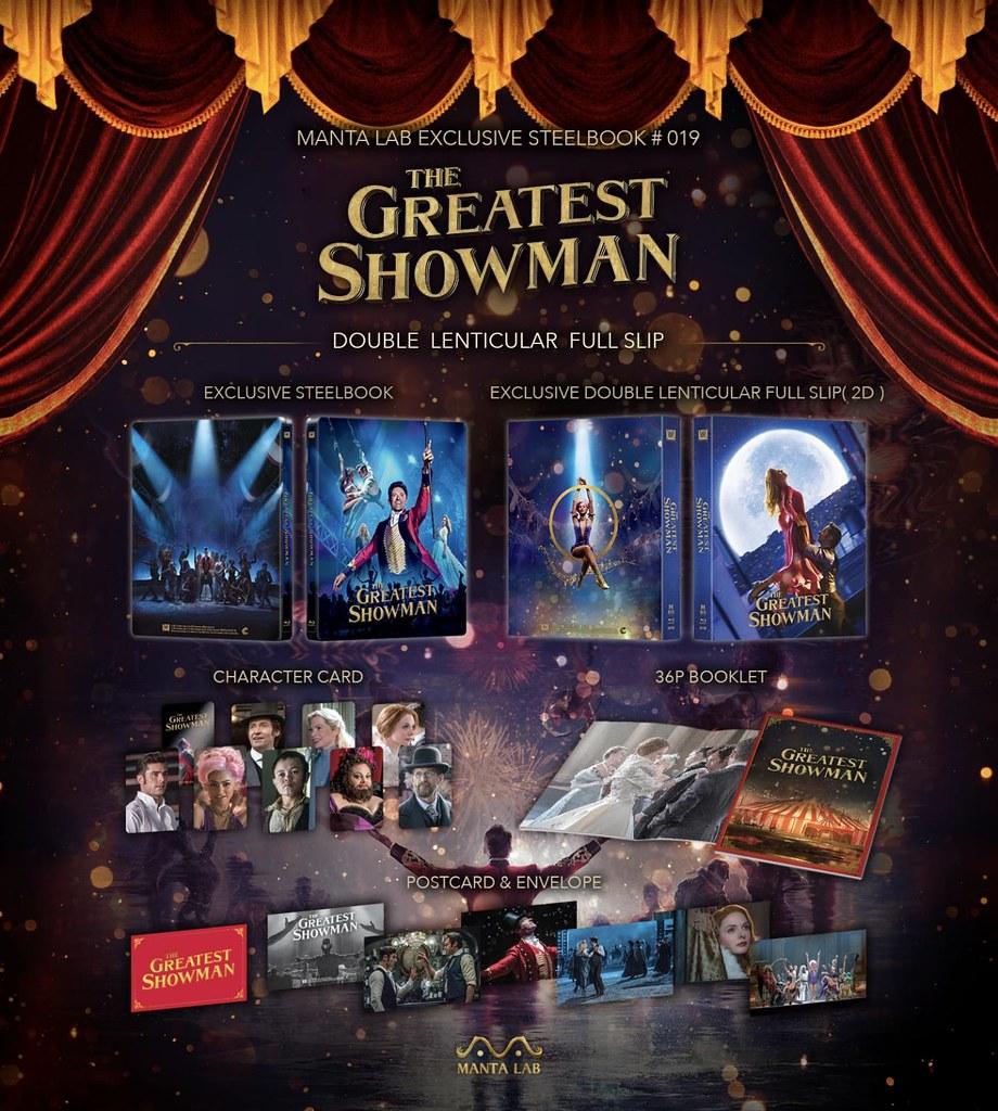 The Greatest Showman - Manta Lab Double Lenticular Steelbook