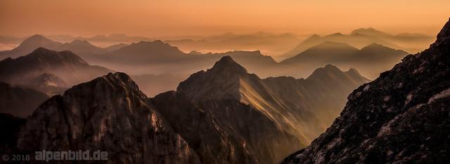 Mountain Ranges at Sunrise