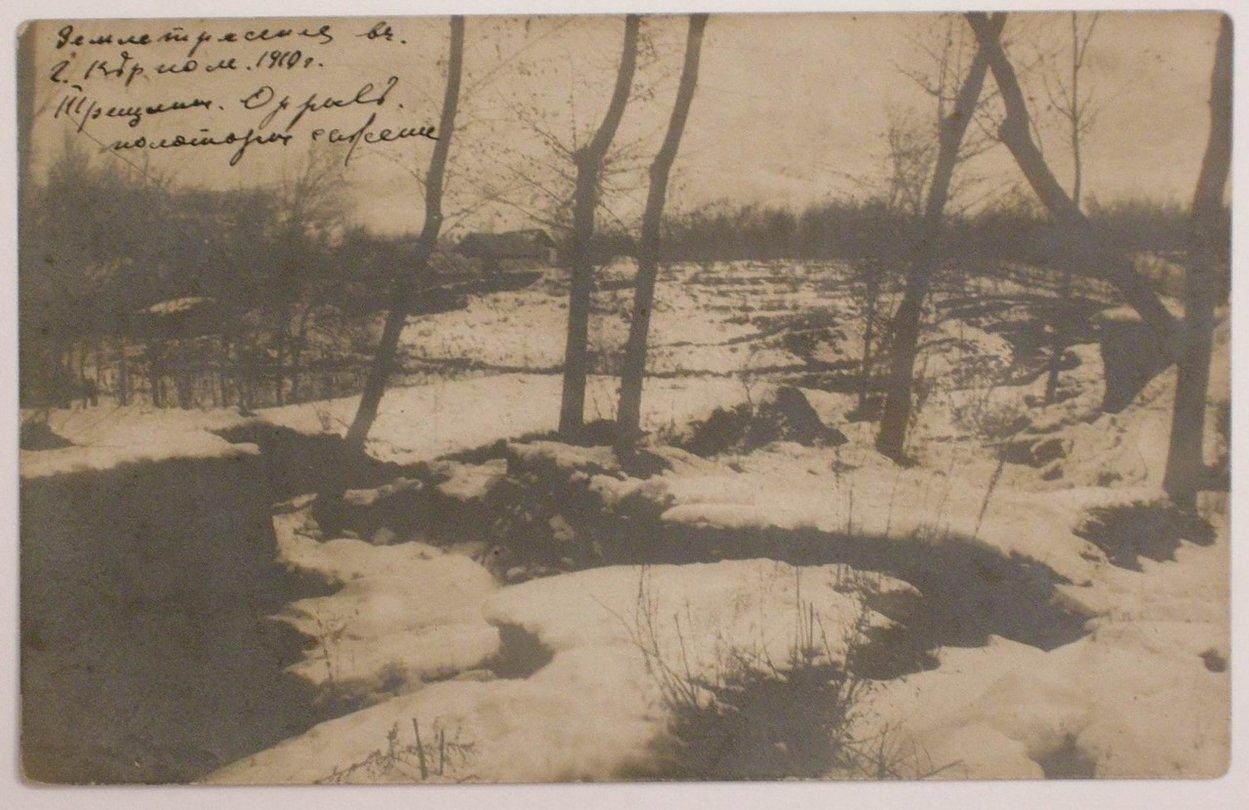 Трещины в земле после землетрясения. 1910
