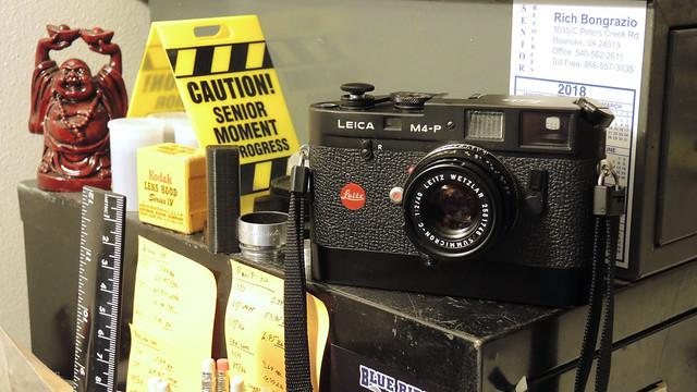 Decked Out Leica M4-P, Nikon COOLPIX P7700
