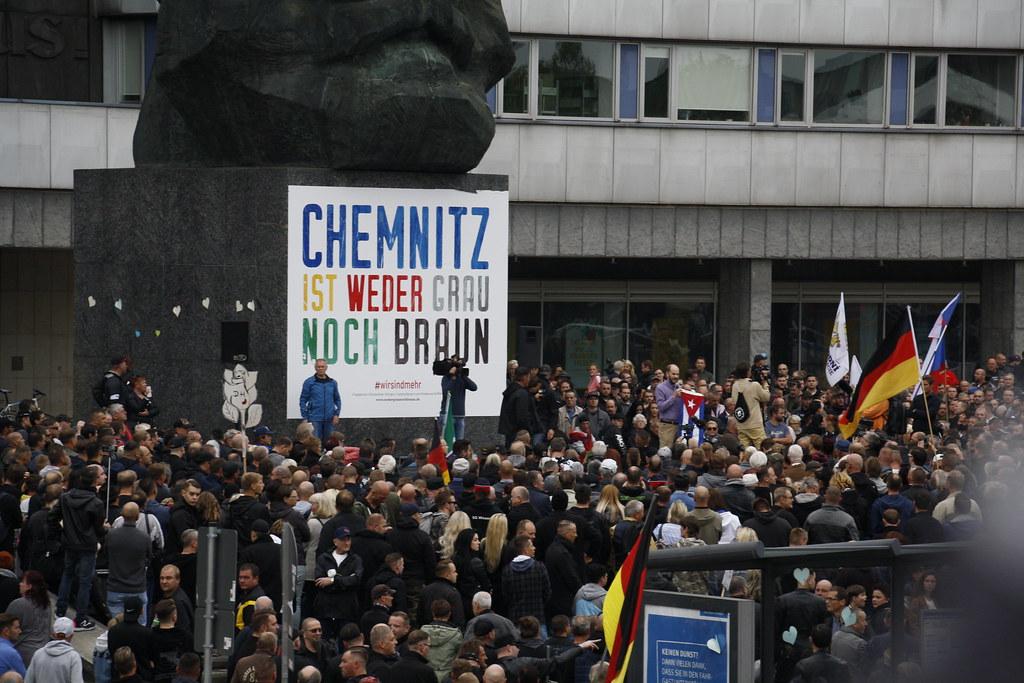 """Chemnitz: """"Pro Chemnitz"""" und AfD Kundgebung am 01.09.2018"""