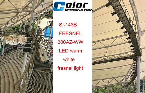 SI-143B FRESNEL 300AZ-WW LED warm white fresnel light