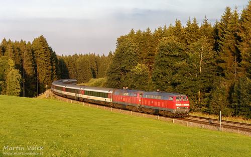218 403 + 218 498 DB, EC 190, Biessenhofen - Günzach (Germany)
