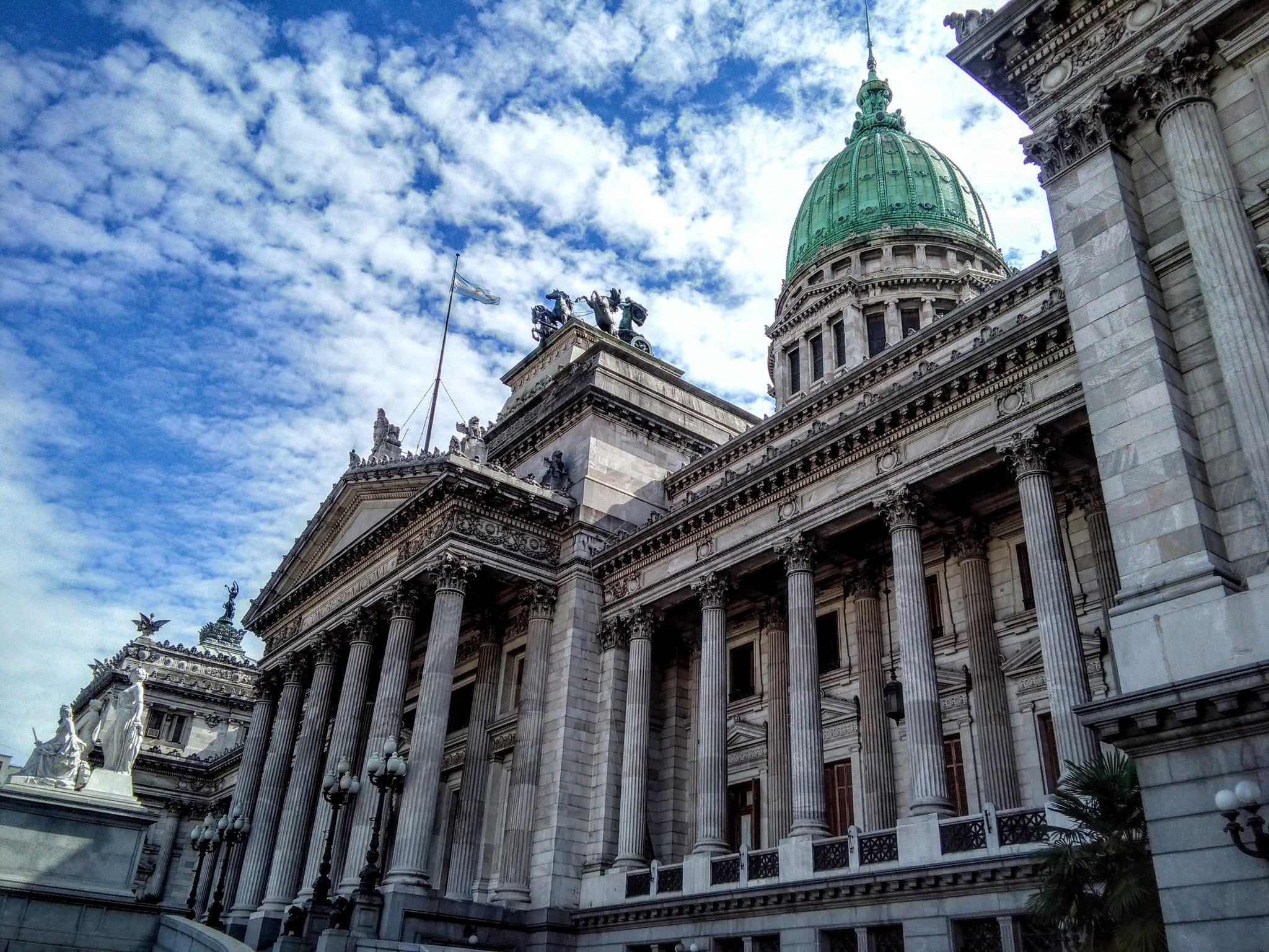 Plaza del Congreso at in Buenos Aires