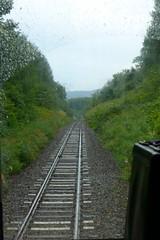 区界峠 ピークを越えるとすぐに区界駅