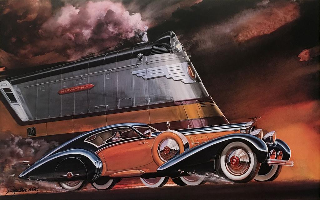 Jack Juratovic, Road and Track, November 1935. (Packard Coupe and Milwaukee Road Hiawatha)