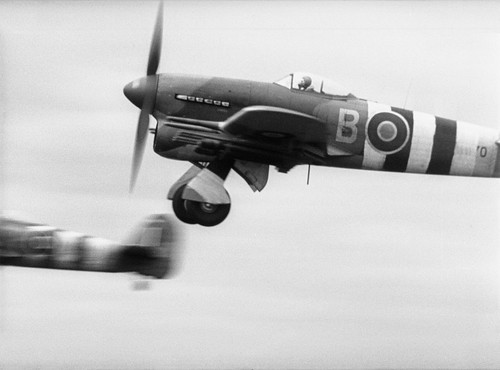Hawker Typhoon Mark IB MN570  take off from RAF Thorney Island June 1944.