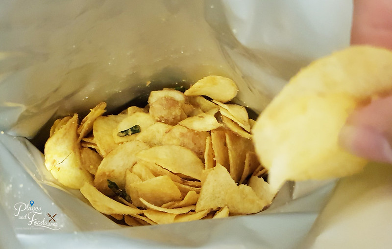 the boss salted egg chips inside