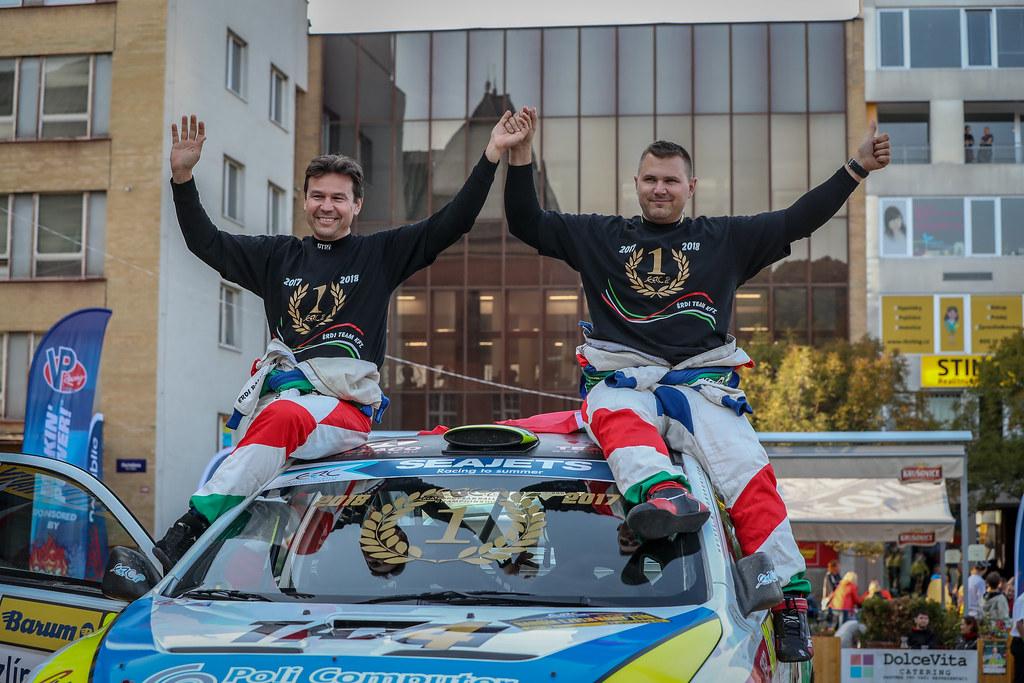 31 Erdi Tibor jun., Papp György, HUN/HUN, Erdi Tibor jun., Mitsubishi Lancer Evo X, Action during the 2018 European Rally Championship ERC Barum rally,  from August 24 to 26, at Zlin, Czech Republic - Photo Alexandre Guillaumot / DPPI