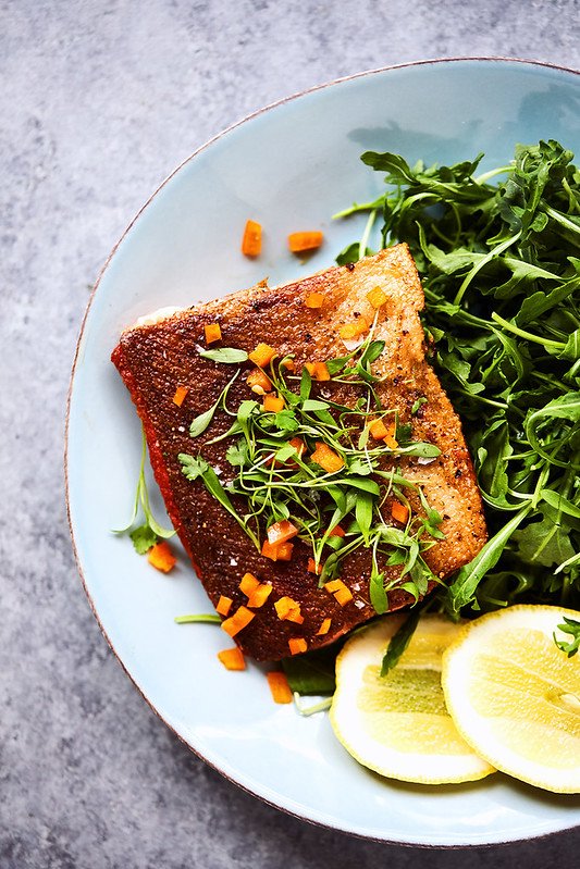 6-Minute Crispy Skin Cast Iron Salmon