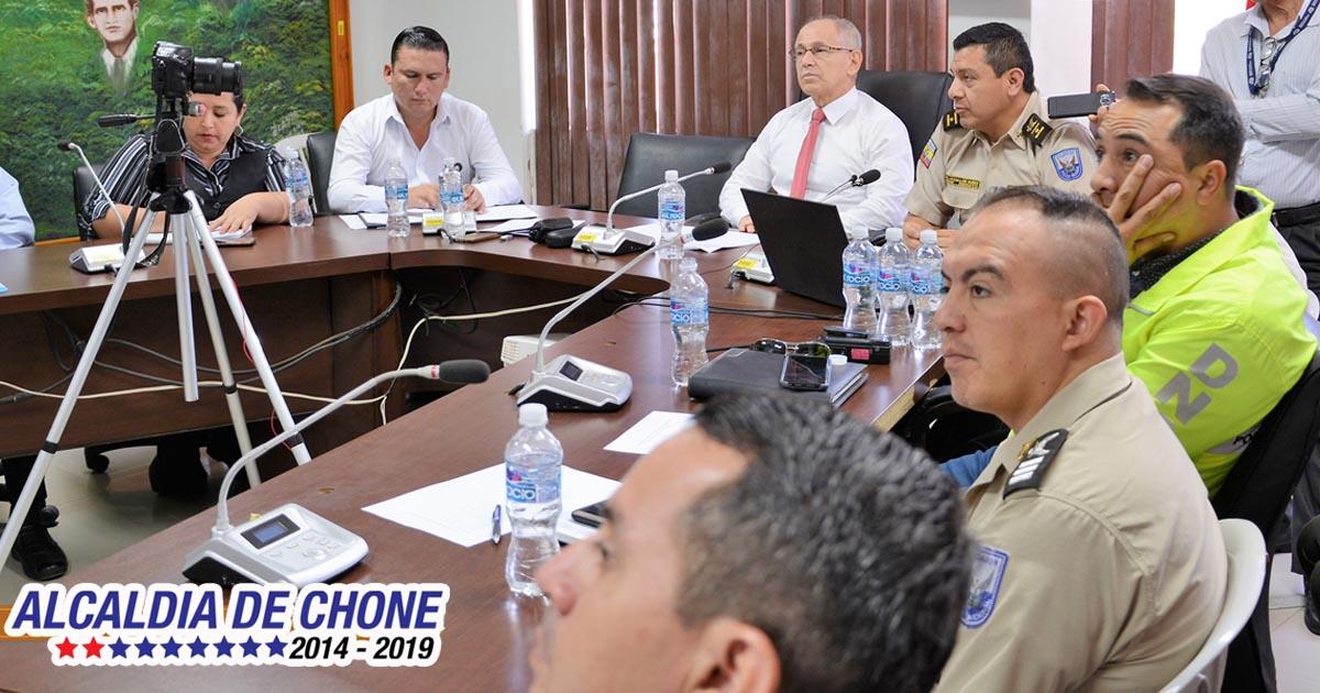Se reunió el Consejo Cantonal de Protección y Seguridad Ciudadana