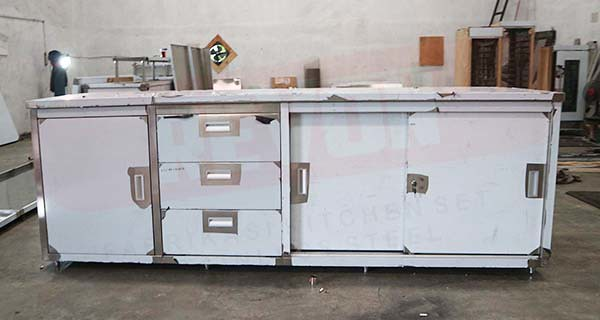 kitchen cabinet dengan drawer stainless steel`