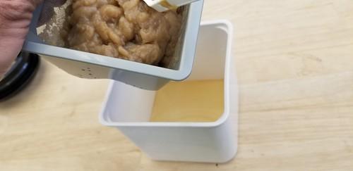 SCOBY Mush in a Yogurt Cheese Making Thing
