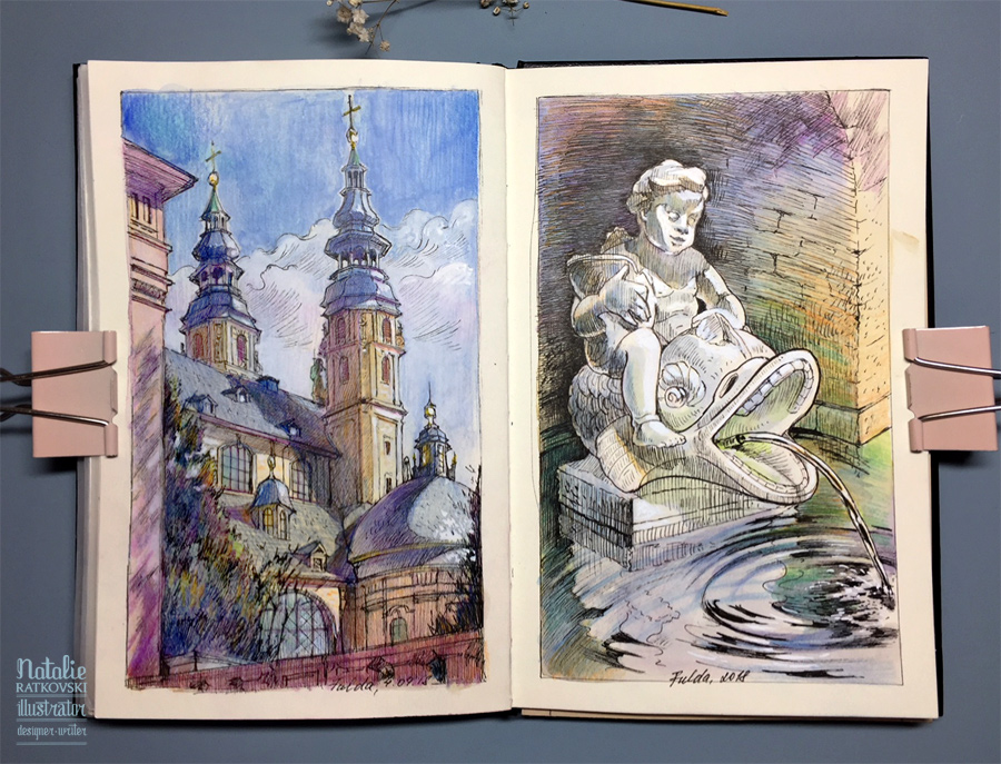 Sketches from life in Fulda