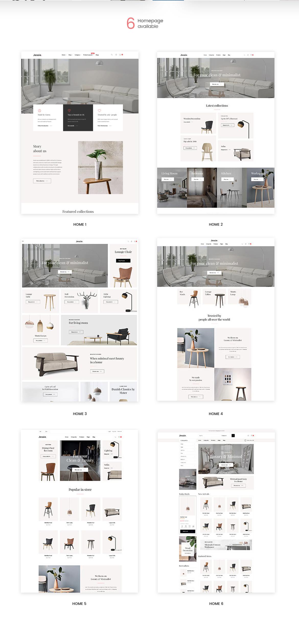 multi homepage - Leo Jessie - Prestashop 1.7 theme for Furniture
